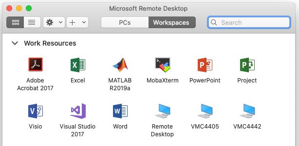 RemoteApps window